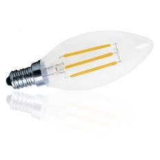 Bombilla LED 4W VELA luz cálida 2700ºK y 400Lm E-14 DECORATIVA