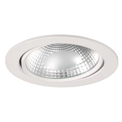 Downlight LED 17W luz neutra 4000ºk y 1350 Lm COB. REDONDO BLANCO